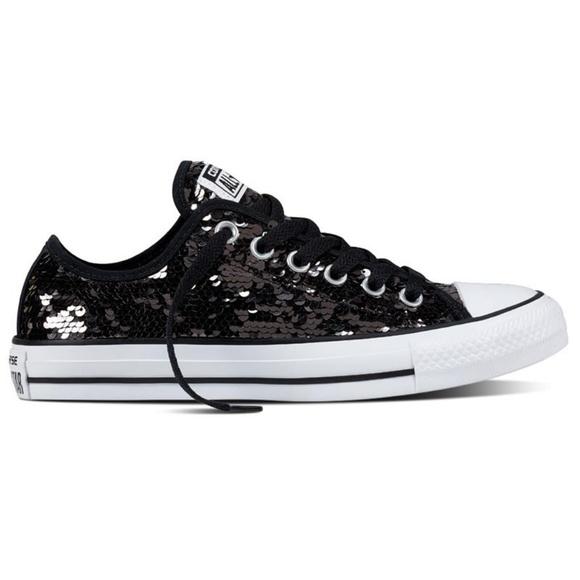 black sequin converse sneakers - WinWin